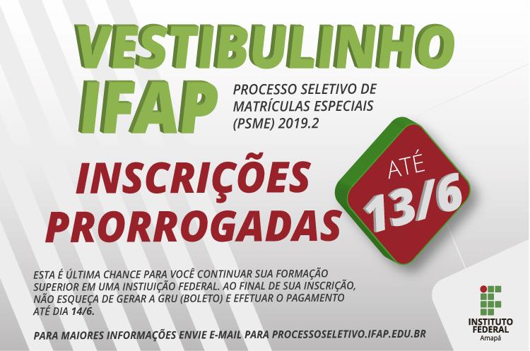 Ifap prorroga inscrições do Vestibulinho