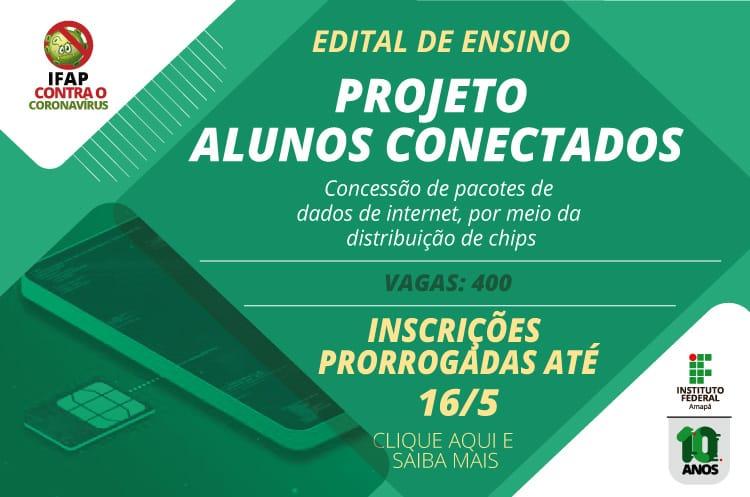 Projeto Alunos Conectados recebe inscrição até 16 de maio