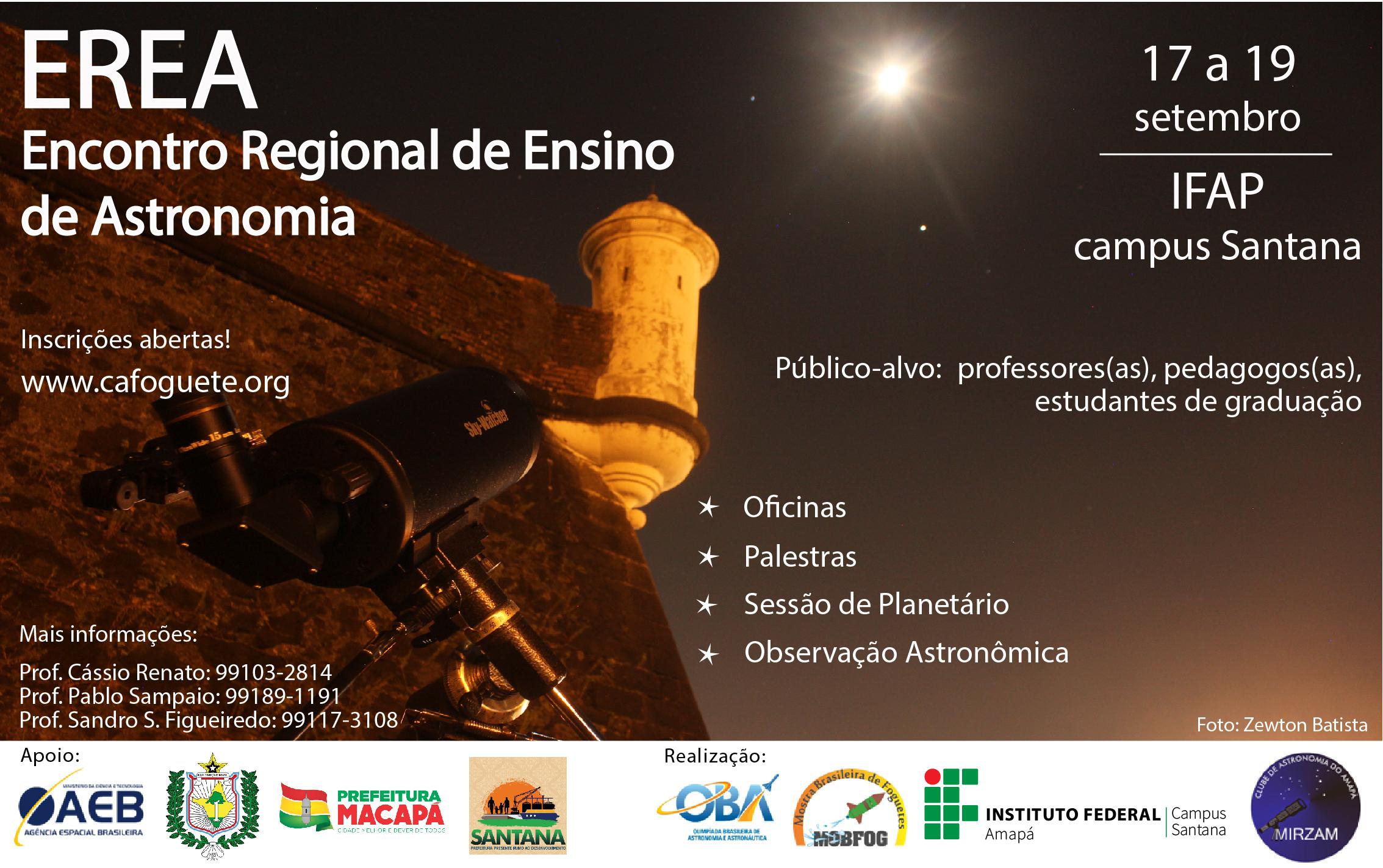 Campus Santana sediará Encontro Regional de Ensino de Astronomia
