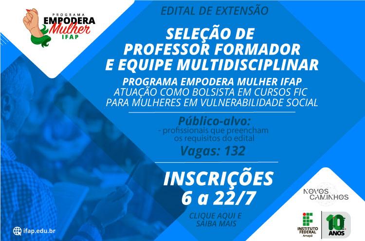 Ifap seleciona professor e equipe multidisciplinar para cursos FIC