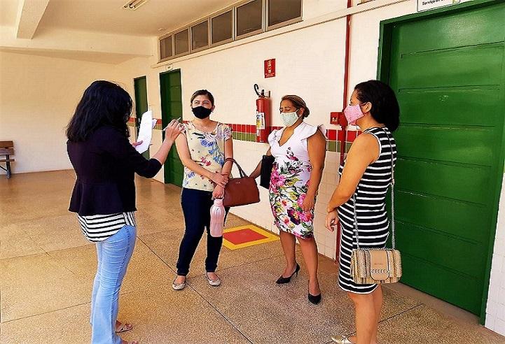 Comissão de retorno gradual das aulas presenciais realiza inspeção no Campus